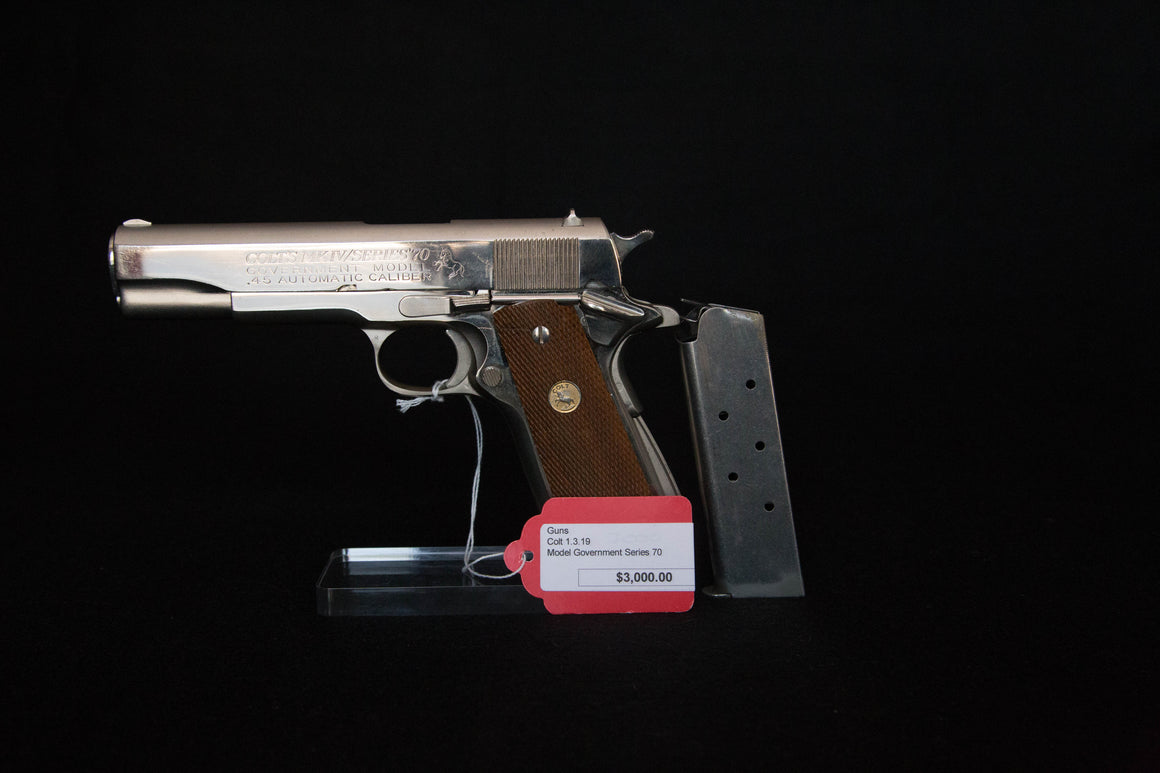 Colt Government Model- 45, Nickel, Series 70