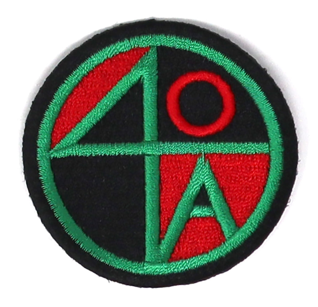 RED BLACK GREEN 40 ACRES LOGO PATCH