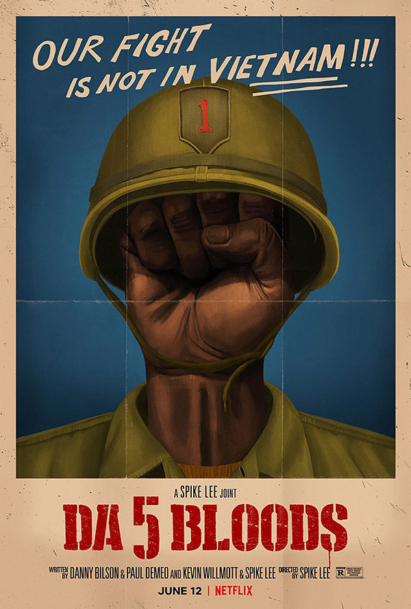 Da 5 Bloods One Sheet Poster - Black Power Fist