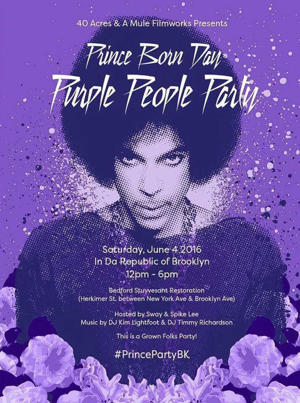 PRINCE BORN DAY PURPLE PEOPLE Poster
