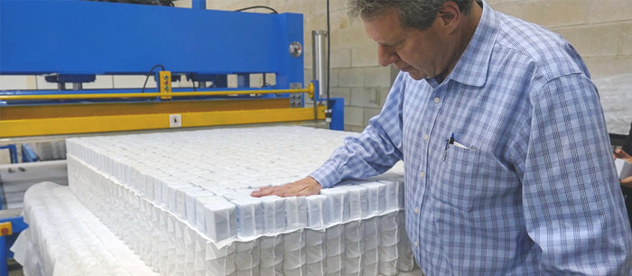 SleepOvation's First 700 in One Mattress Production Unit
