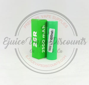 2500mah 25R 20A 3.7V Samsung Battery $8.99 - Ejuice Vape Discounts