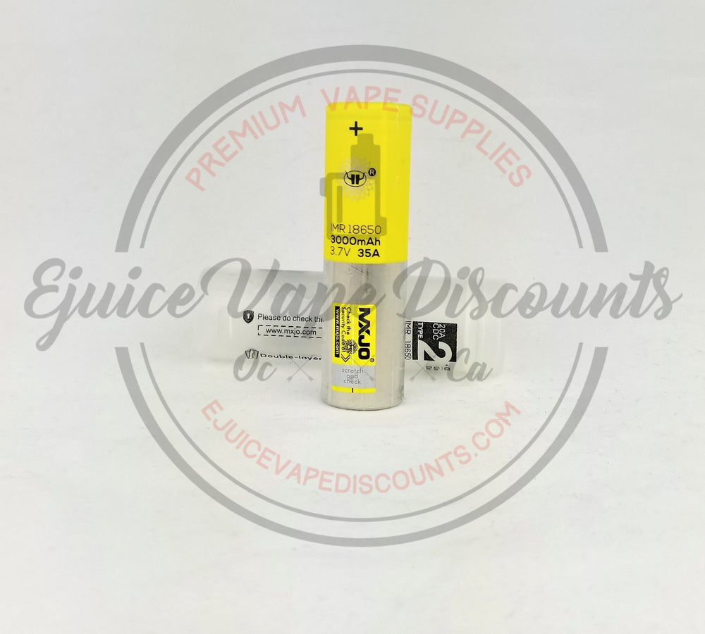 3000mAh 3.7V 35A 18650 MXJO battery $10.99 - Ejuice Vape Discounts
