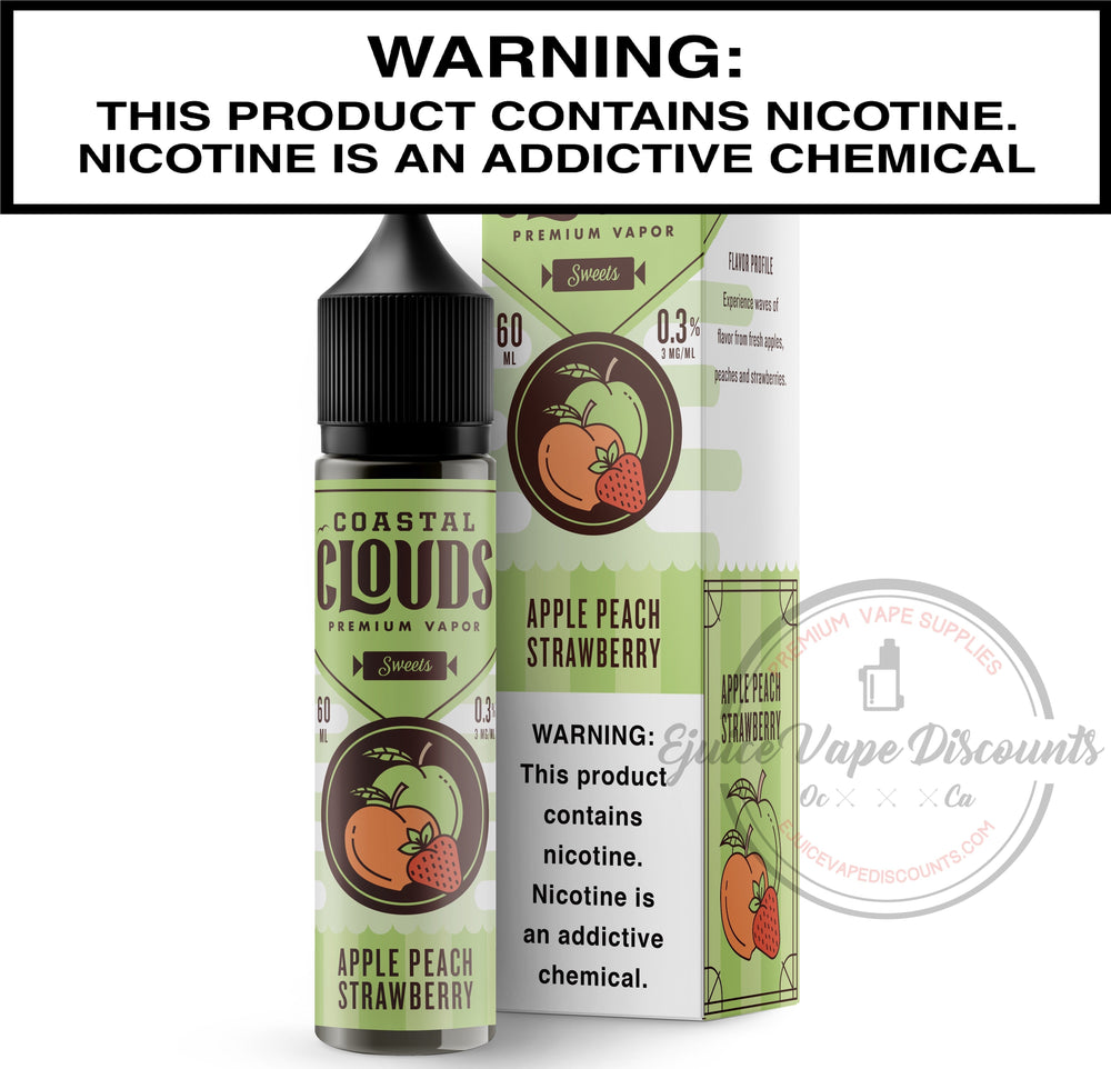 Coastal Clouds Ejuice 0 Apple Peach Strawberry by Coastal Clouds