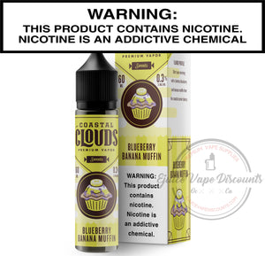 Coastal Clouds Ejuice 0 Blueberry Banana Muffin by Coastal Clouds