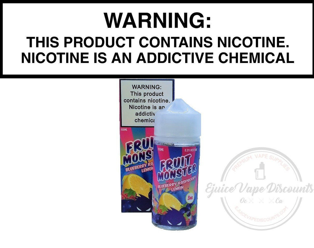 Jam Monster Ejuice 0 Blueberry Raspberry Lemon by Fruit Monster 100ml