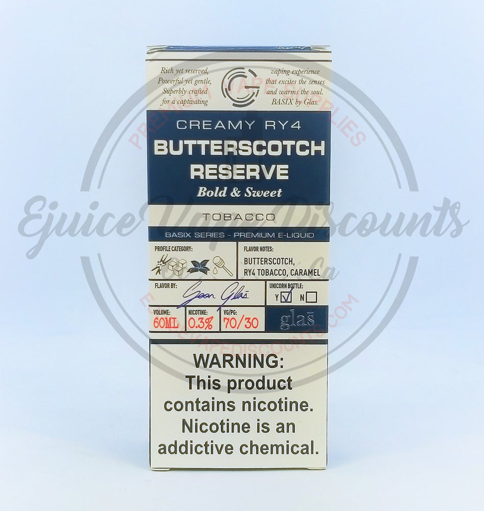 Butterscotch Reserve Glas Basix 60ml