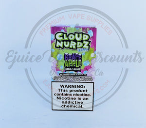 Cloud Nurdz Grape Apple ICED 100ml - Ejuice Vape Discounts