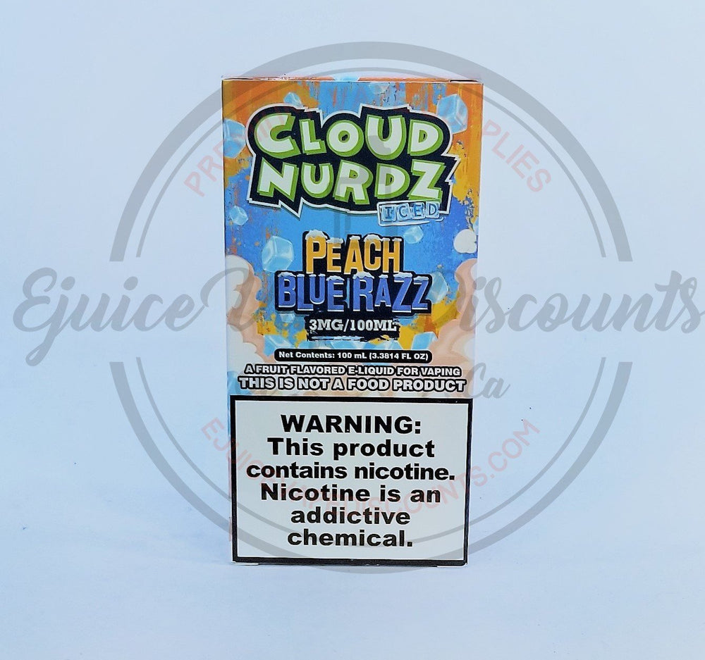 Load image into Gallery viewer, Cloud Nurdz Peach Blue Razz ICED 100ml - Ejuice Vape Discounts