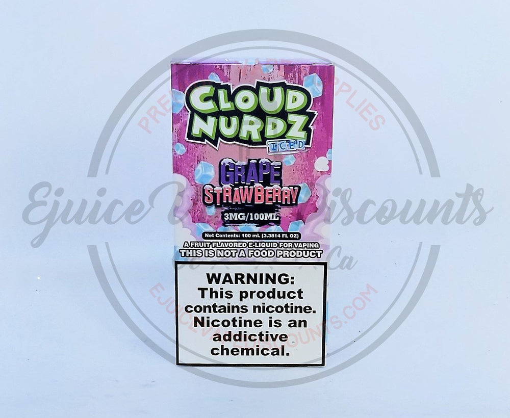 Load image into Gallery viewer, Cloud Nurdz Strawberry Grape ICED 100ml - Ejuice Vape Discounts