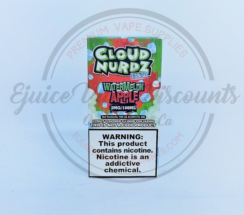 Cloud Nurdz Watermelon Apple ICED 100ml - Ejuice Vape Discounts