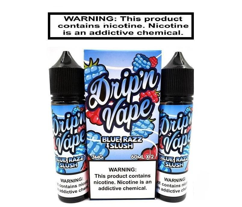 Drip'n Vape Bluerazz Slushy 120ml