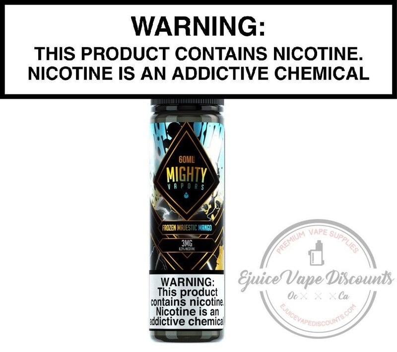 Mighty Vapors Ejuice 0 Frozen Majestic Mango by Mighty Vapors 60ml