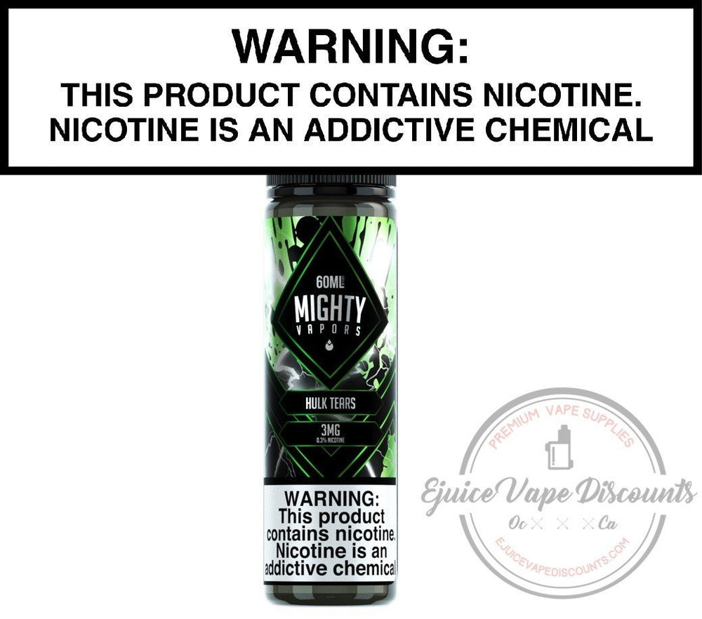 Mighty Vapors Ejuice 0 Hulk Tears by Mighty Vapors 60ml