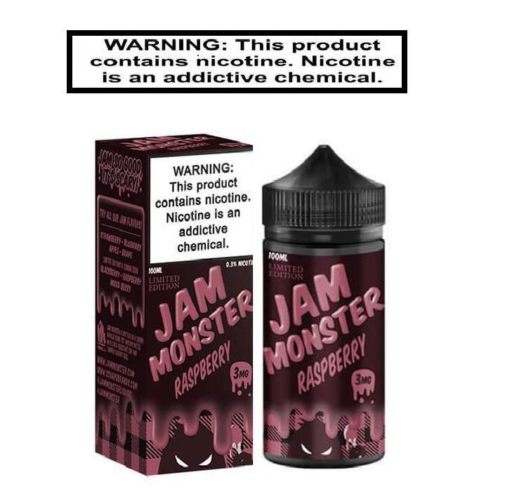 Jam Monster Ejuice 0 Jam Monster Raspberry 100ml