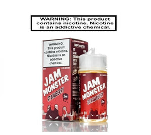 Load image into Gallery viewer, Jam Monster Ejuice 0 Jam Monster Strawberry EJuice 100ml