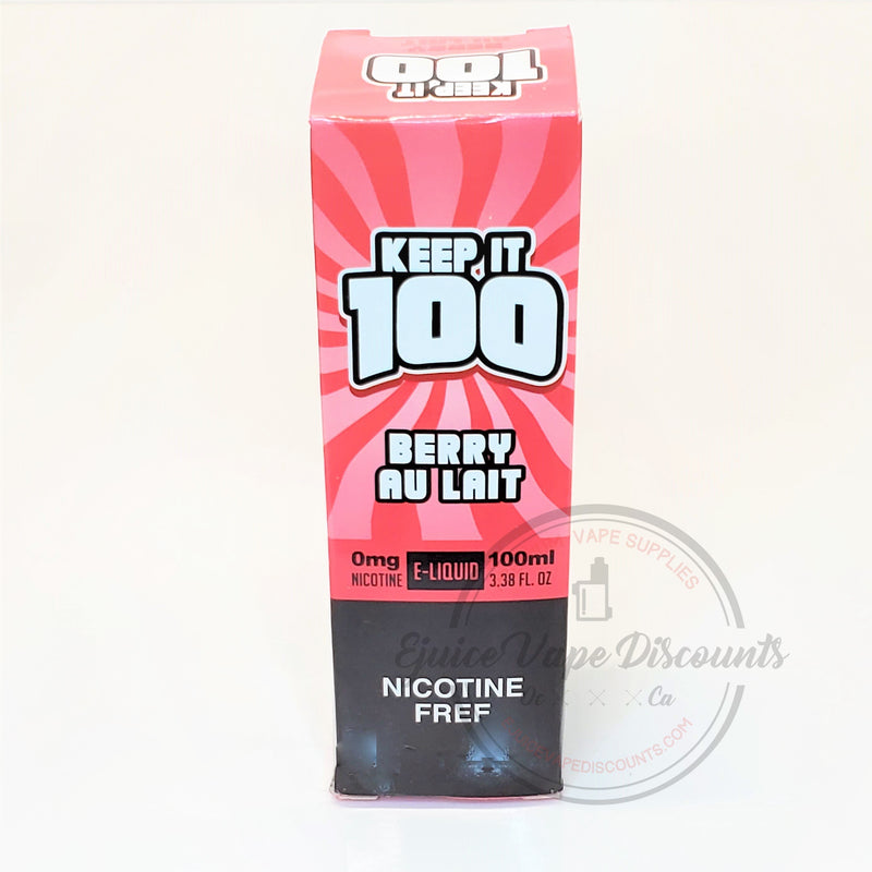 Keep It 100 Berry Au Lait (Strawberry Milk) 100ml