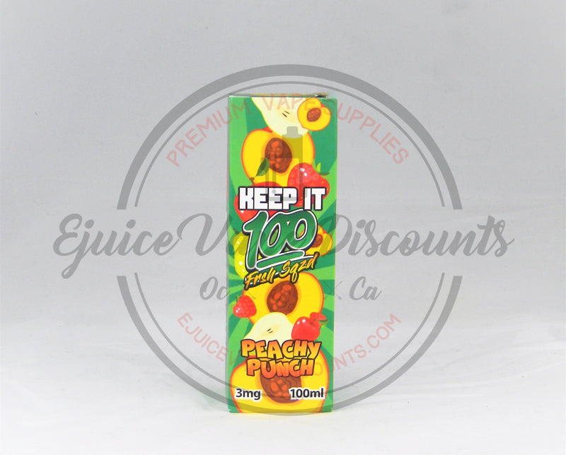 Keep It 100 Peachy Punch 100ml - Ejuice Vape Discounts