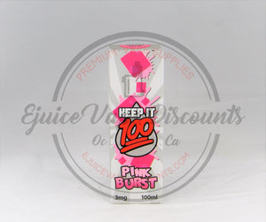 Keep It 100 Pink Burst 100ml - Ejuice Vape Discounts