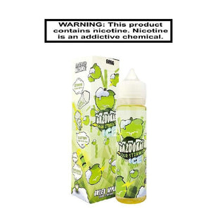 Load image into Gallery viewer, Bazooka Ejuice 0 Kilo Sour Straws Ice Green Apple 100ml