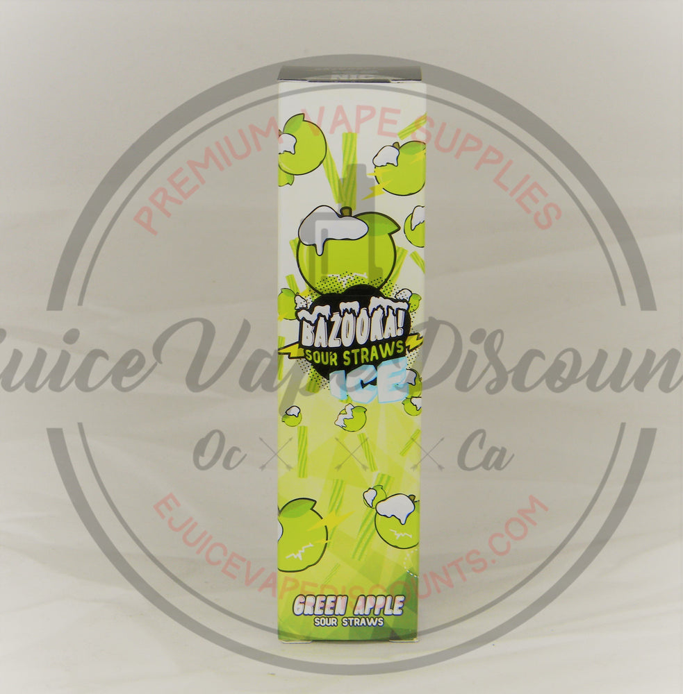 Load image into Gallery viewer, Bazooka Sour Straws Ice Green Apple 100ml - Ejuice Vape Discounts