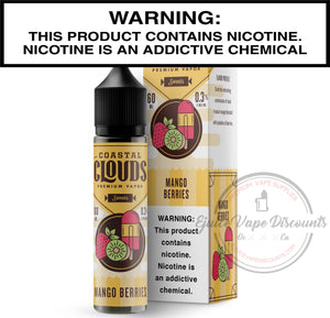 Coastal Clouds Ejuice 0 Mango Berries by Coastal Clouds 60ml