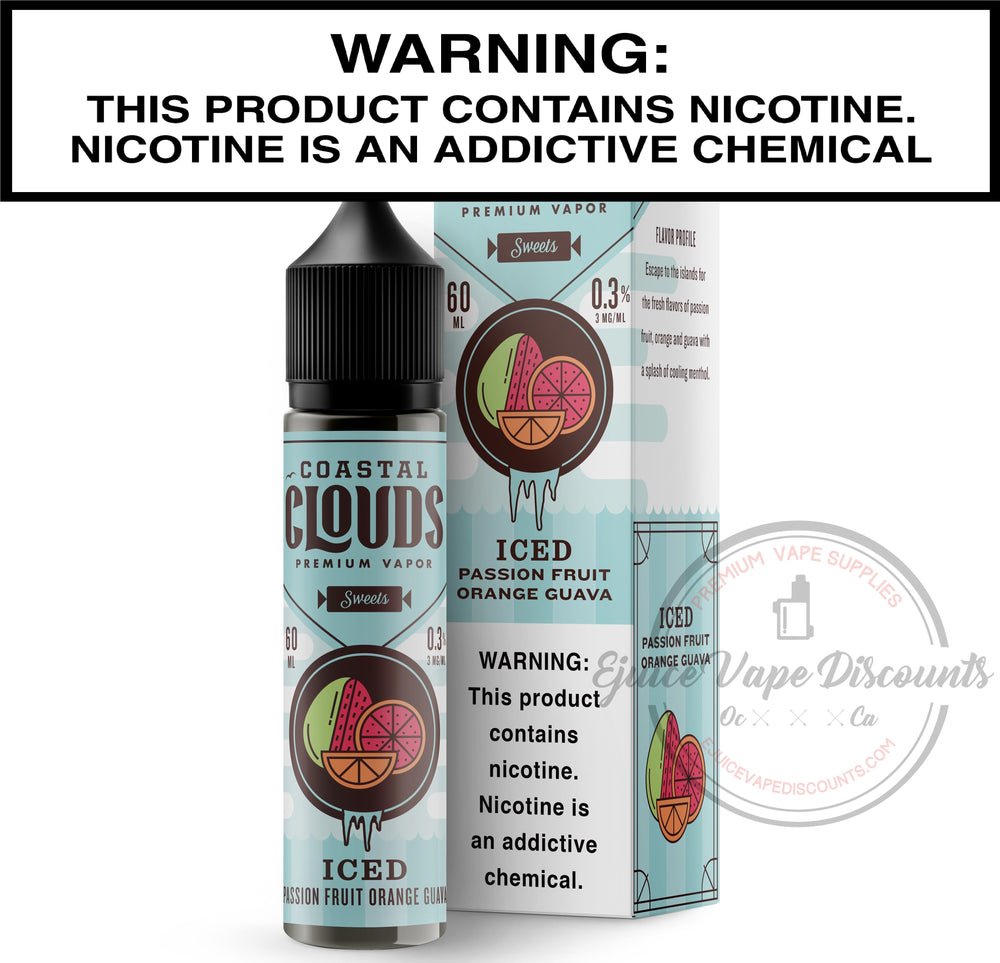 Coastal Clouds Ejuice 0 Pog ICED by Coastal Clouds 60ml
