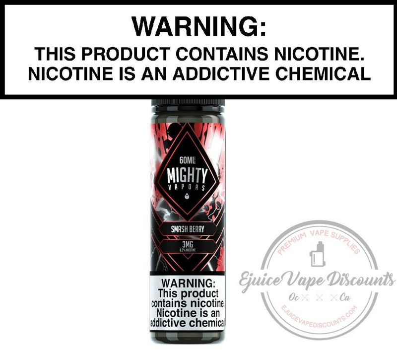 Mighty Vapors Ejuice 0 Smash Berry by Mighty Vapors 60ml