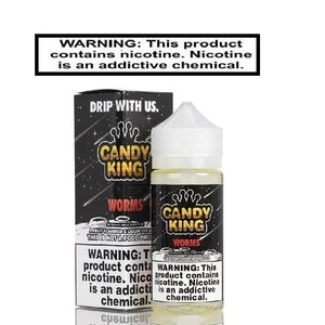 Sour Worms 100ml by Candy King - Ejuice Vape Discounts