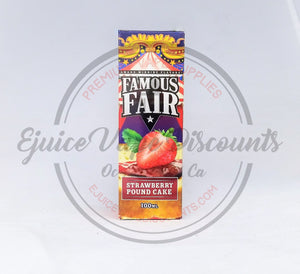 Strawberry Pound Cake by Famous Fair 100ml - Ejuice Vape Discounts