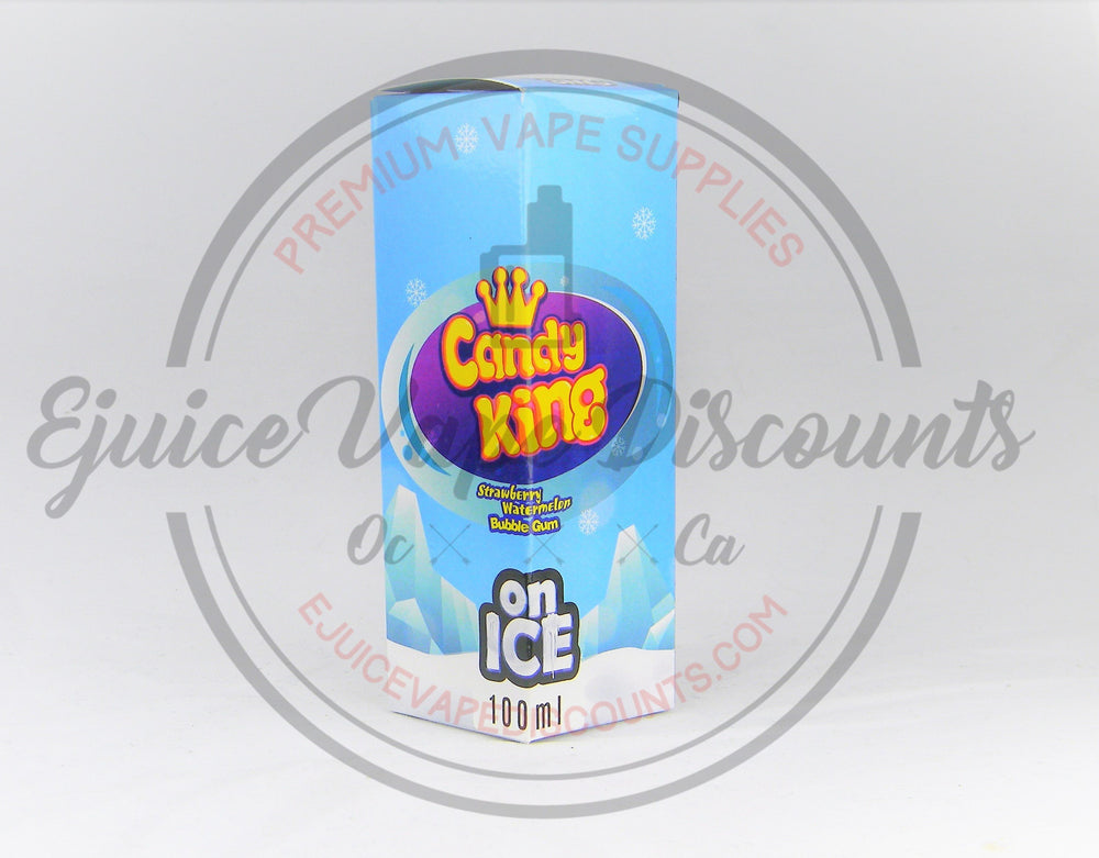Strawberry watermelon Bubblegum on ICE 100ml by Candy King - Ejuice Vape Discounts