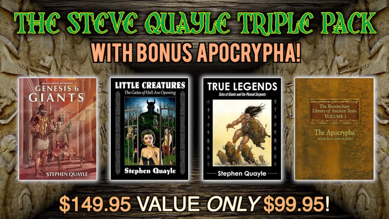 Huge 3 Book Steve Quayle Special Offer
