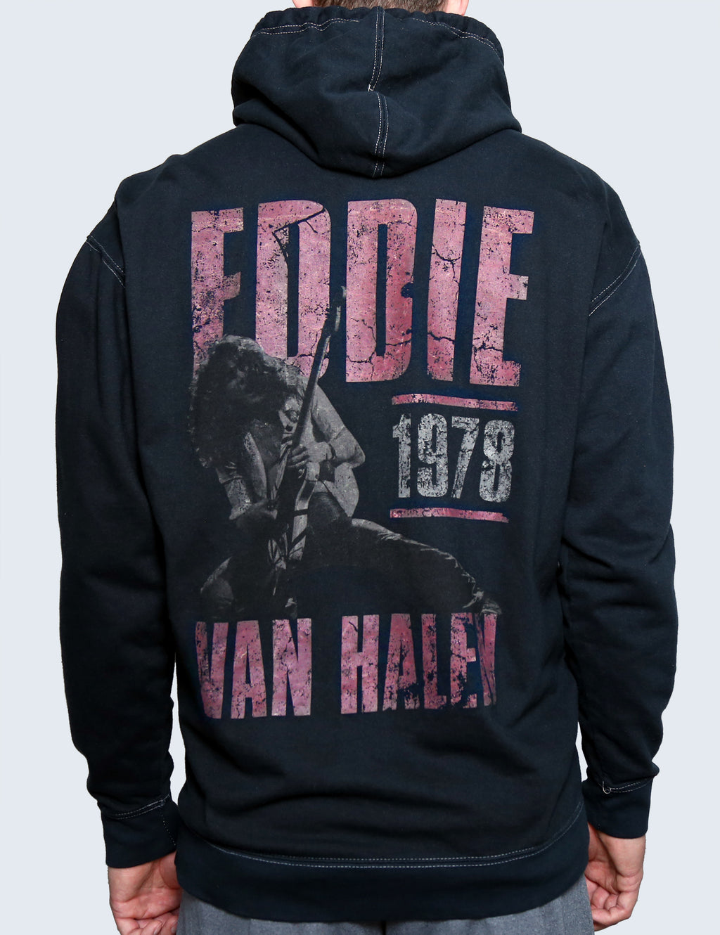 '78 Vintage Wash Black Zip Up Hoodie