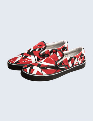 EVH Red Slip-On Shoes