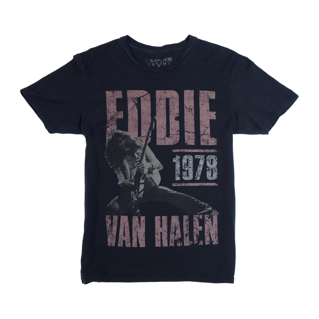 Official Eddie Van Halen Store 1979 Poster Tee. official, Exclusive, original to www.eddievanhalenstore.com, www.killermerch.com,  EVH Store, Van Halen Store, EVH Stripes, EVH Striped