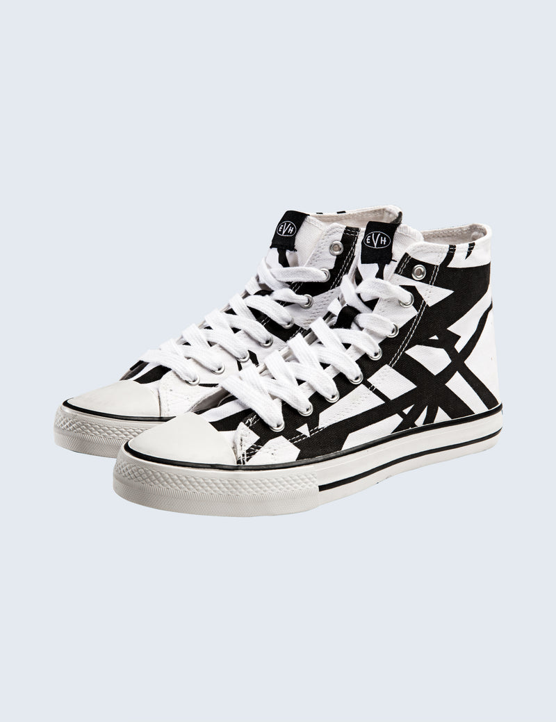 EVH White High Top Shoes