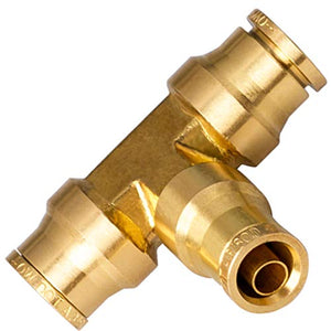 "Utah Pneumatic Pack of 2 1/4"" Od D.O.T Approved Brass Push to Connect Straight Union for Saej844 Nylon Air Brake Tube Applications"