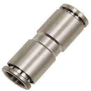 "Utah Pneumatic Pack of 2 Nickel-Plated Brass Push to Connect Fittings 1/4""Od Straight Connector Push Fit Fittings Tube Fittings Pneumatic Fittings Air Line Fittings Tube (1/4"" Straight Brass)"