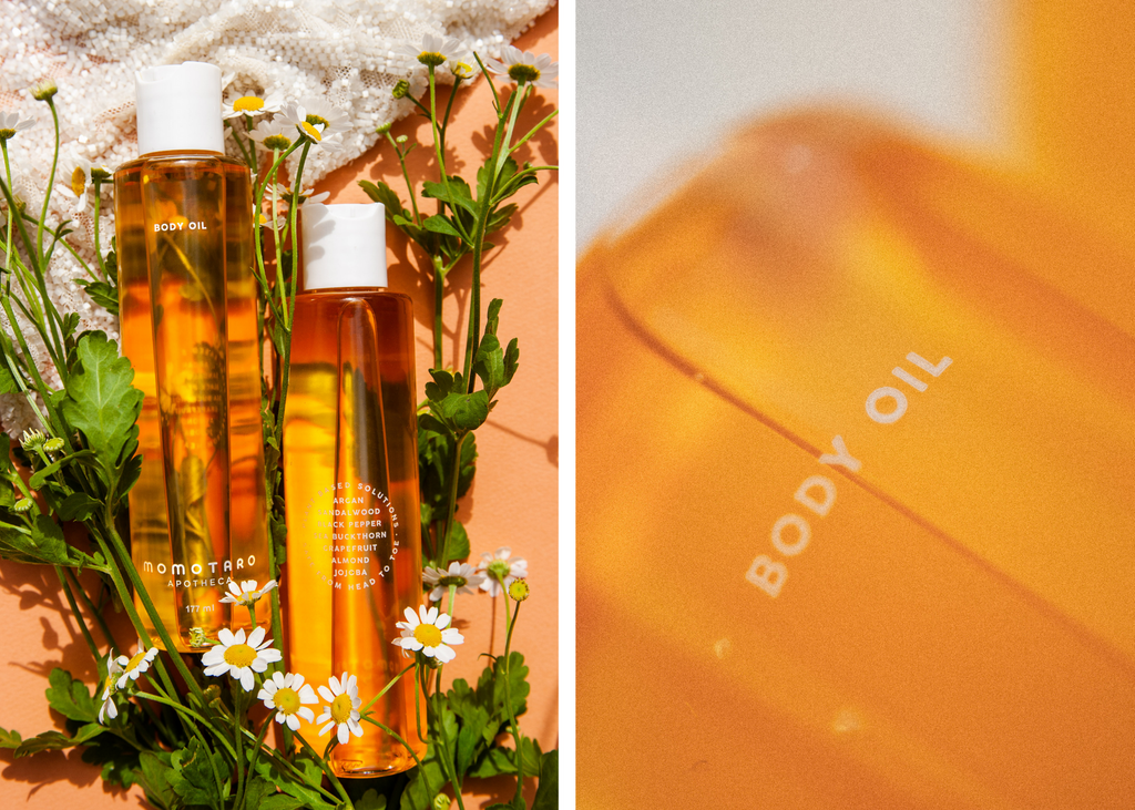 Body Oil infused with essential oils and soothing botanicals