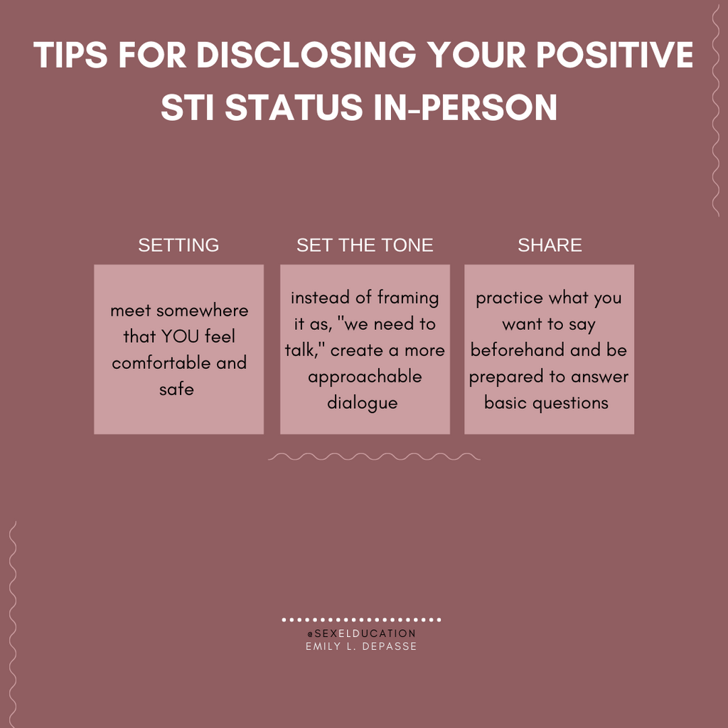 Tips for disclosing your positive STI status in-person