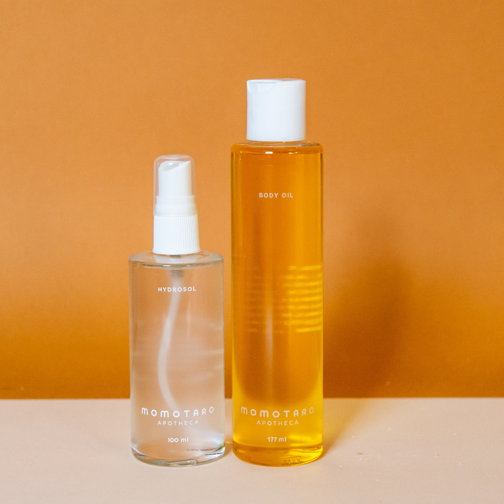 Hydrate with Hydrosol then Moisturize with Body Oil