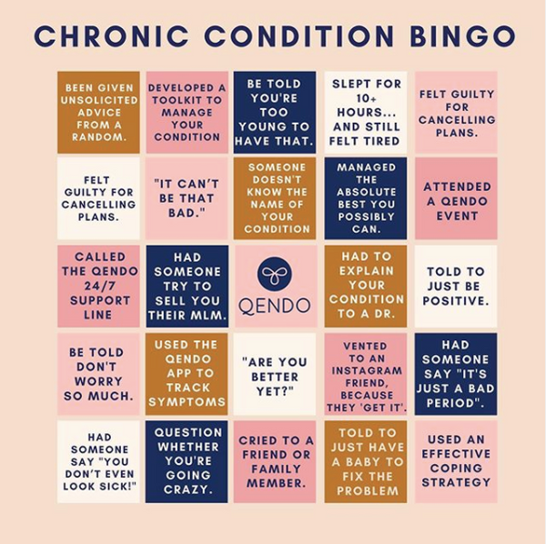 Chonic Pelvic Pain Conditions Bingo