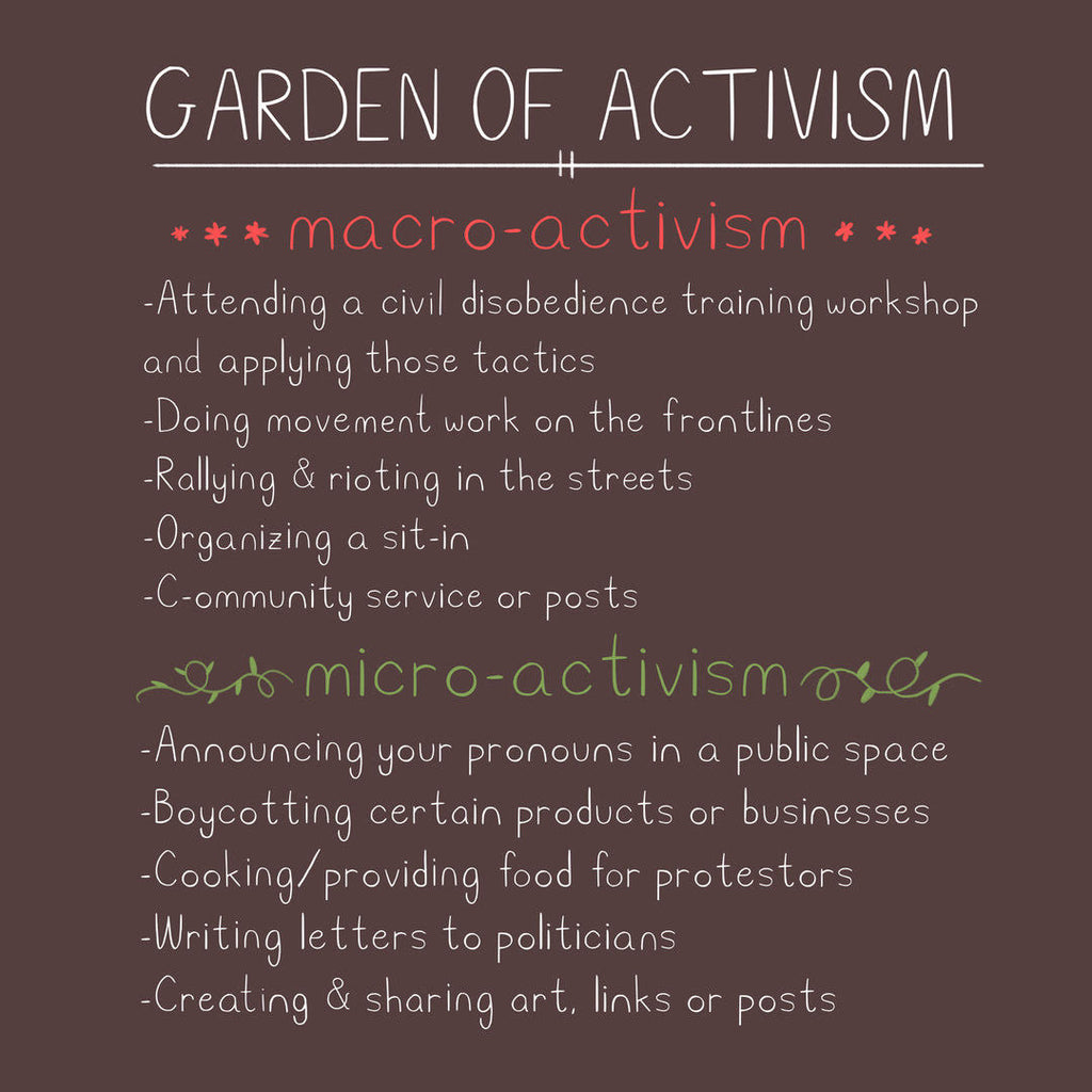 Examples of Micro Activism and Macro Activism