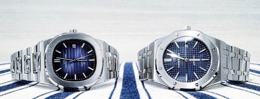Steelbagelsport Branded Watches along side the Didun Design Royal One, 2 Very Rare, Lolvable Homage Watches