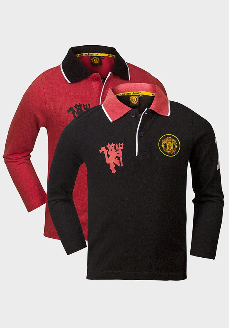ab329853f Manchester United Official Boys Long Sleeve Polo Shirts - RRP £25.00!