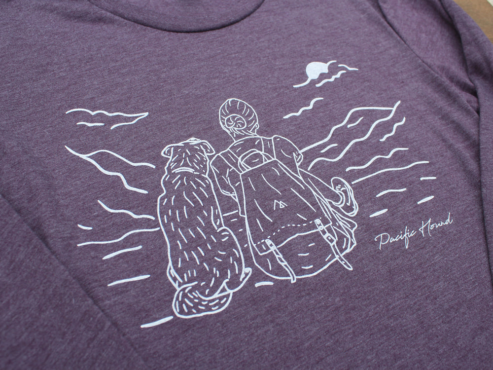 Best Hiking Friends Long Sleeve- Vintage Purple
