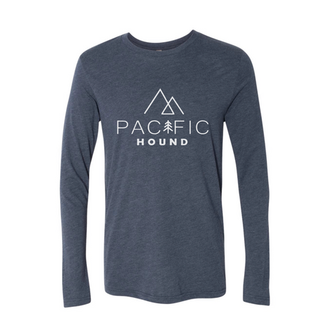 Pacific Hound Logo Long Sleeve- Vintage Navy