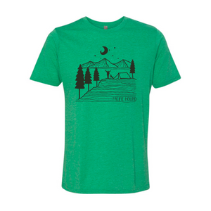 hiking with dogs tee