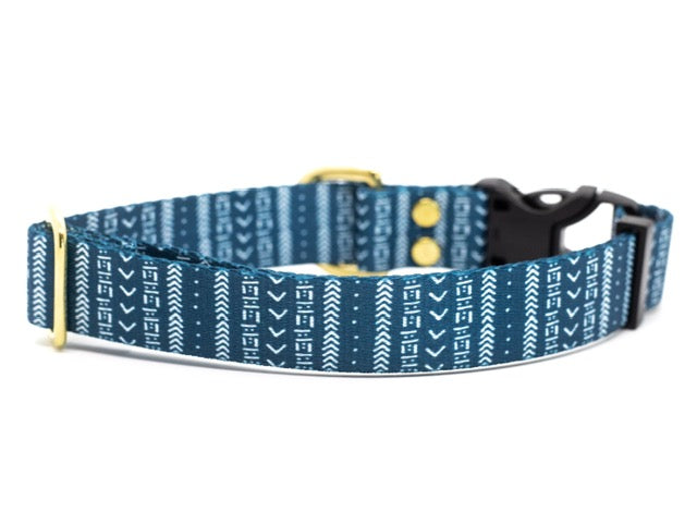 Elements Series - Slate Mudcloth Dog Collar