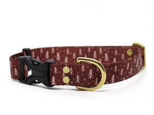 Elements Series - Red Tree Dog Collar